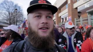 Clemson football team welcomed back to campus after CFP Championship win