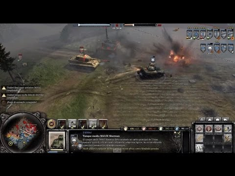 Company Of Heroes 2 The Western Front Armies Contrataque Aleman King Tiger Youtube