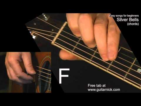 SILVER BELLS (chords) Guitar Lesson + TAB by GuitarNick