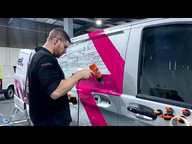 Powell   Mercedes Vito LWB   3M™ IJ180mc Digitally Printed Partial Wrap