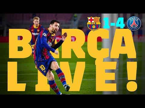 ⚽ BARÇA LIVE   BARÇA 1-4 PSG   Match Center   The Champions League returns! 🏆