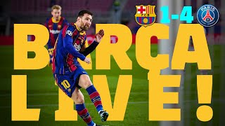 ⚽ BARÇA LIVE | BARÇA 1-4 PSG | Match Center | The Champions League returns! 🏆