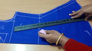 1 Kalidar frock drafting and cutting