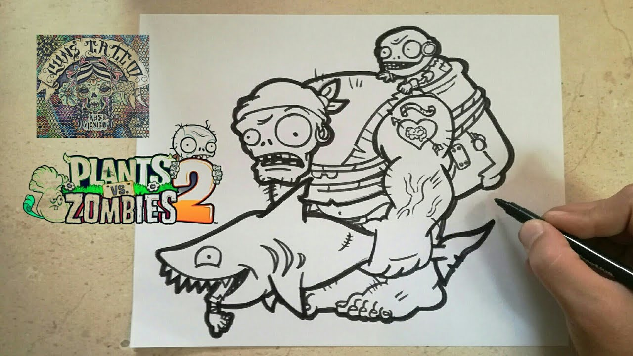 Plants Vs Zombies 2 Dibujos Para Colorear