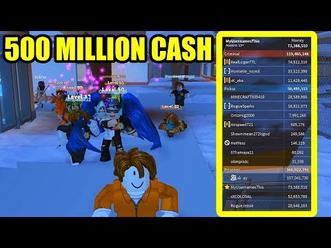 RICHEST JAILBREAK SERVER EVER *500 MILLION CASH* | Roblox Jailbreak
