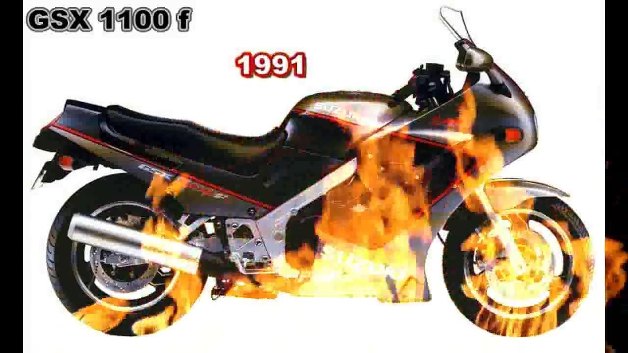 Suzuki gsx 1100 f de 1987 a 1995 ficha técnica e top speed