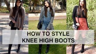 HOW TO STYLE | איך ללבוש מגפיים עד הברך + לוקבוק | חורף 2017 | הדר כהן