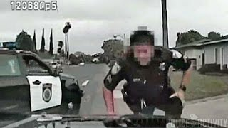 Dashcam: Police Officer Suggests Using a Bat On Escaped Suspect thumbnail