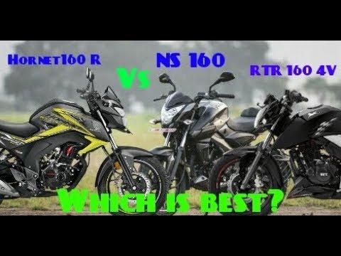 Latest 3 Best 160cc Bike In India 2018 | Pulsar NS 160 Vs Honda CB Hornet 160R Vs Apache RTR 160 4V