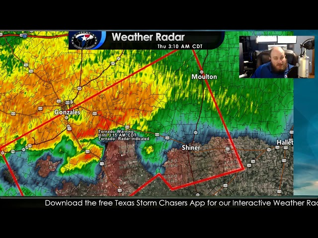TORNADO WARNING for Gonzales County