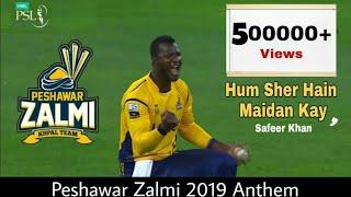 Peshawar Zalmi Official Anthem 2019   Hum Sher Hain Maidaan Kay   Safeer Khan   PSL4