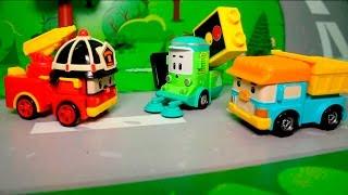 Мультфильмы для детей с игрушками Робокар поли - Чистюля Клини  Новые мультики смотреть онлайн