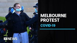 Anti-lockdown protests met with heavy police presence in Melbourne | ABC News