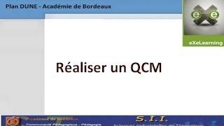 eXeLearning : Réaliser un QCM