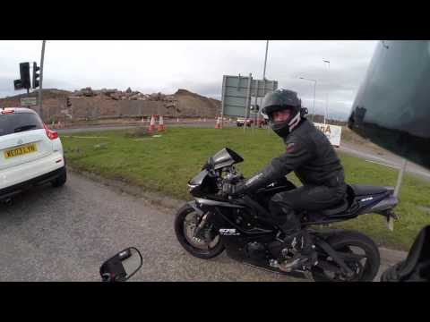 Honda CBR600rr Ride with Gary's Triumph Daytona 675 over to Strathclyde Park and back - 25/03/16