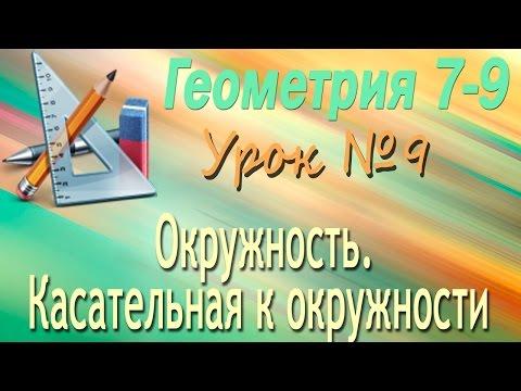 Видеоурок: Вписанная окружность по предмету геометрия за 8