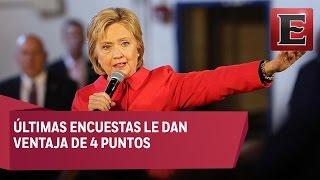 Encuestas le dan victoria parcial a Hillary Clinton