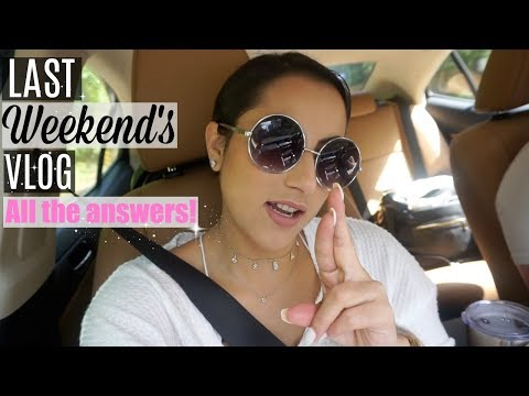 LAST WEEKEND'S VLOG // Q&A PT.2 // SPOOKY DAY, MOVING, MOST ASKED QUESTION