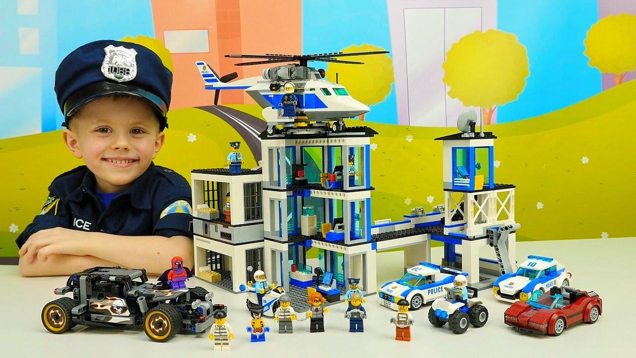 Лего Полиция 60141 и Вертолёт ЛЕГО СИТИ 60138. Лего бандиты и машина для побега Лего Техник 42046