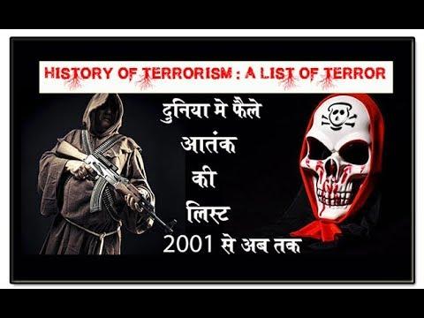 इस्लामिक आतंकवाद की लीस्ट 2001 से 14 july 2017  तक