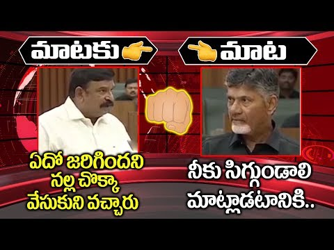 మాటకు మాట || Chandrababu Naidu Counter to MLA Krishna Kumar Raj || BJP VS TDP || AP Politics