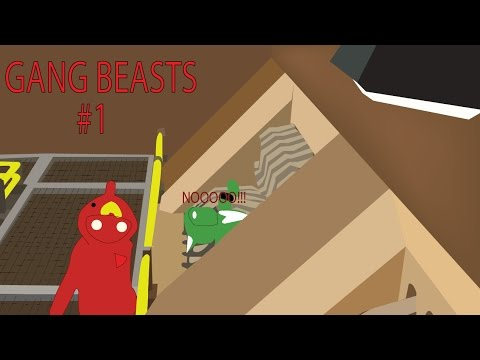 Throwing My Friends In Garbage Disposals - Gang Beasts #1