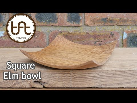 Woodturning a Square Elm Bowl.