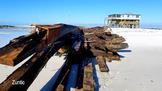 Exploring shipwrecks on Dog Island Florida that were uncovered after Hurricane Michael