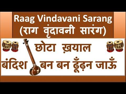 Raag Vrindavani Sarang Tutorial | Ban Ban Dhundhan Jaun With Alaap And Taan
