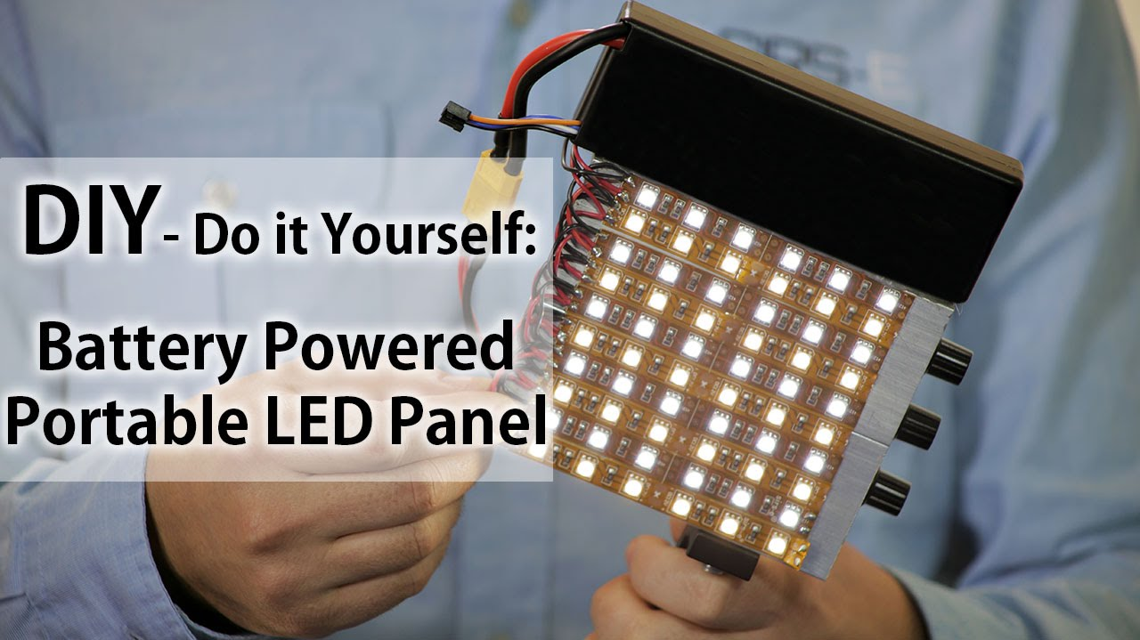 battery led light portable panel do it yourself diy youtube. Black Bedroom Furniture Sets. Home Design Ideas