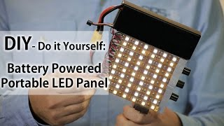 Battery LED Light Portable Panel - Do It Yourself - DIY