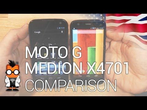 Motorola Moto G vs. Medion Life X4701 - Cheap quadcore smartphones comparison [ENG]