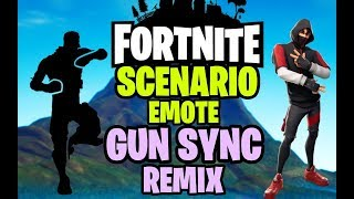 Fortnite Scenario Emote Remix using Gun Sound - Ikonik Skin Gun Sync Remix