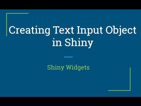Shiny web app tutorial | how to create reactive shiny text widget.