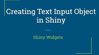 Glänzend web-app-Tutorial | Wie erstelle reaktive glänzende Text Widget | R-Programmierung Tutorial