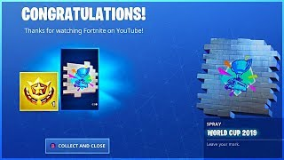 How To Get FREE WORLD CUP REWARDS and LINK YOUTUBE AND EPIC ACCOUNT in Fortnite!
