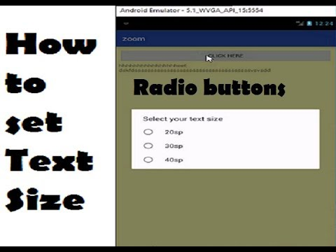 How To Set Text Size With Radio Buttons In Android Studio