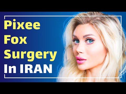 Pixee Fox (Swedish model ) in Iran for nose job