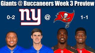 NY Giants @ TB Buccaneers Week 3 Preview