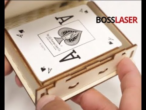 Laser Cut & Engrave New Wooden Playing Card Box - Download File - BOSS