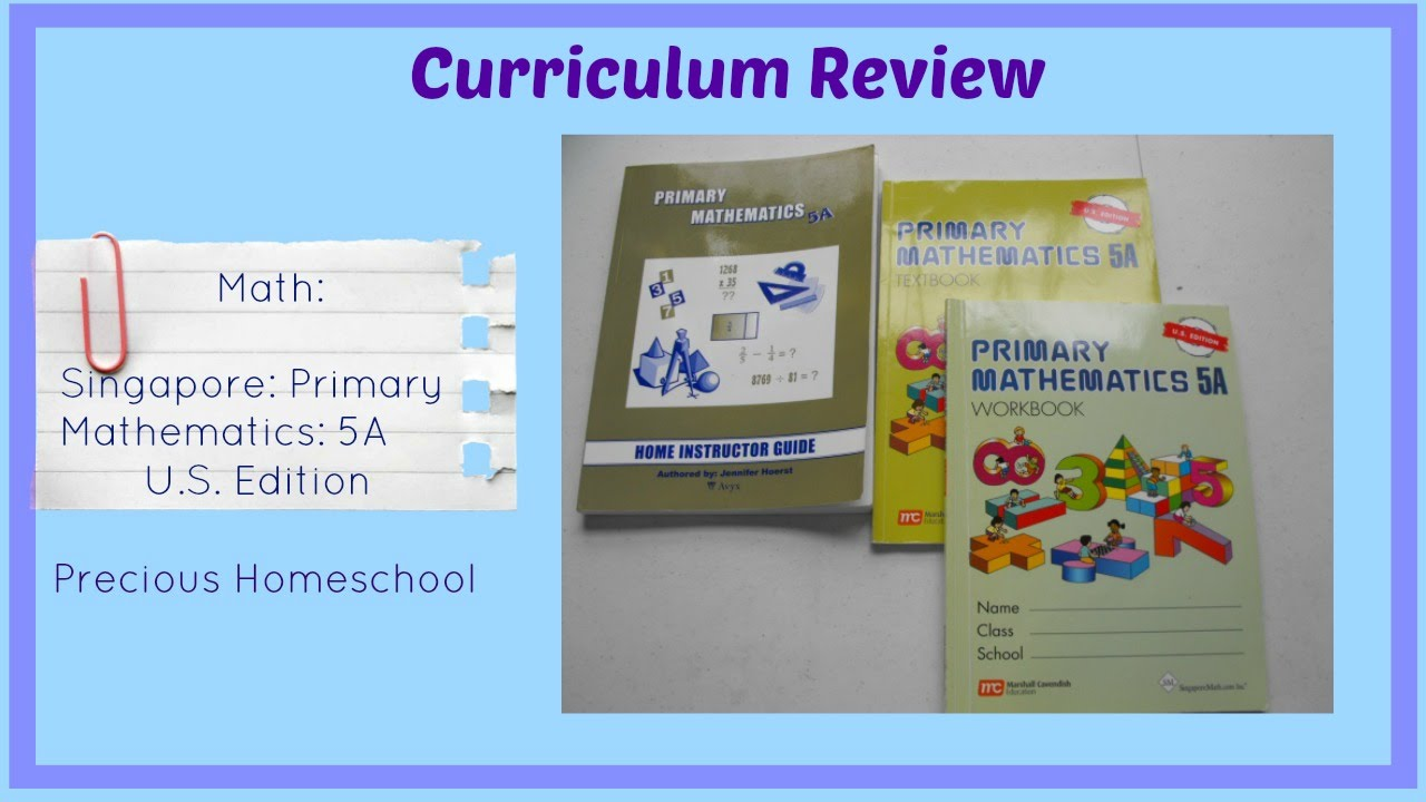 Workbooks primary mathematics workbook : Curriculum Review: Math: Singapore Primary Mathematics 5A U.S. ...