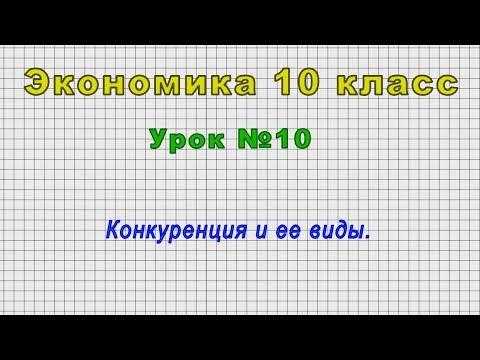 Экономика 10 класс (Урок№10 - Конкуренция и ее виды.)