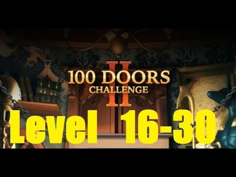 100 Doors Challenge 2 Level 16 - 30 Walkthrough - 100 Дверей сложная игра
