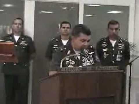 GENERAL ÁNGEL VIVAS - MENSAJE AL ENTREGAR EL CARGO 12/02/07