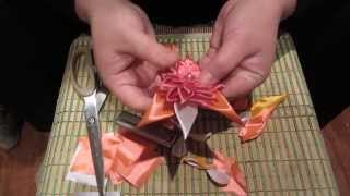 Видеоурок №1. Цветок-канзаши из атласной ленты