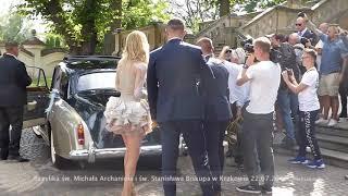 Agnieszka Radwańska ślub w Krakowie Kościół na Skałce 2017