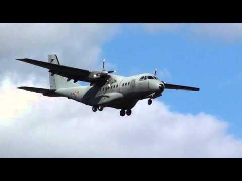 Spain Air Force CASA CN-235 (74-17) Landing Moron air Base LEMO