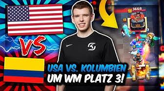 WM-ÜBERRASCHUNG im DUELL um PLATZ 3 - USA vs. KOLUMBIEN! | Wer gewinnt? | Clash Royale Deutsch