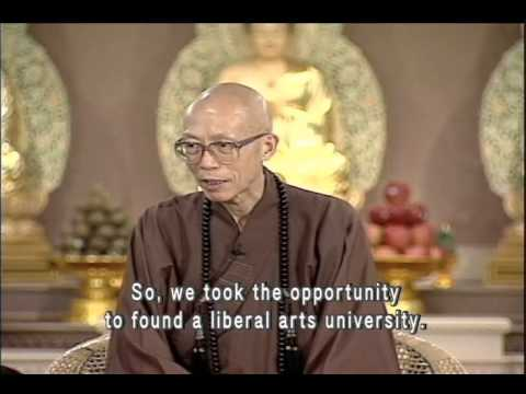 What does the Dharma Drum University wish to achieve? (GDD-613, Master Sheng Yen)