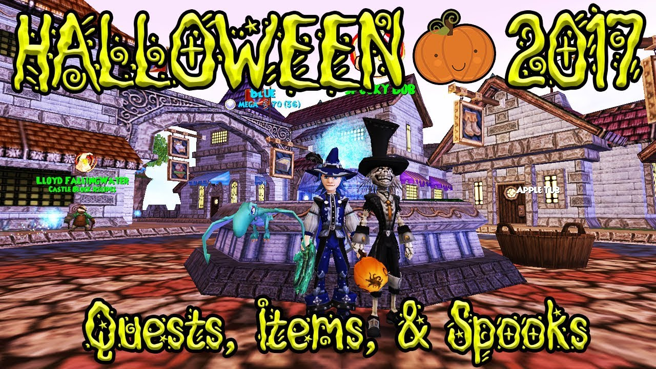 Wizard101: HALLOWEEN 2017 - QUESTS, ITEMS & SPOOKS!!!